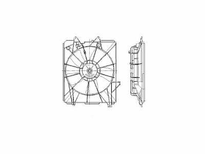 Fits 2005-2010 Honda Odyssey Radiator Fan Assembly 77463BN