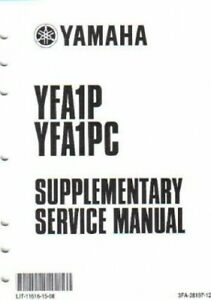 2002-2004 Yamaha YFA1P Service Manual Supplement : LIT