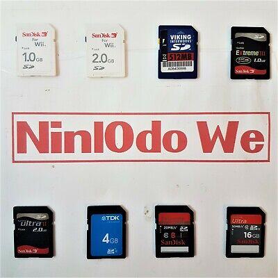 SD Memory cards For Nintendo Wii + Cameras etc - Various sizes - SEE DESCRIPTION | eBay