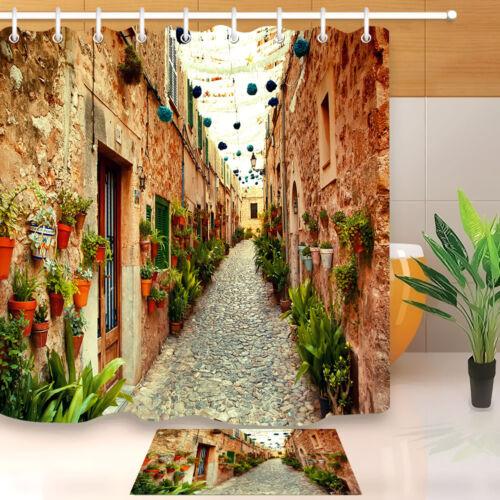 home garden 72x72 bathroom waterproof shower curtain west street in valldemossa village bath