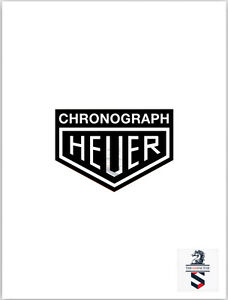 Chronograph Heuer Porsche 911 Car Decal Black Vinyl 4