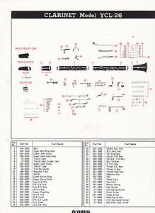 1980 YAMAHA MUSICAL INSTRUMENT PARTS LIST ad sheet