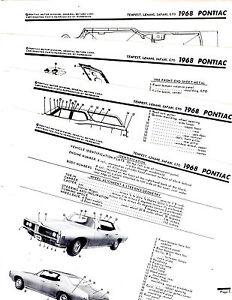 1968 PONTIAC TEMPEST LEMANS GTO SAFARI MOTOR'S BODY PARTS