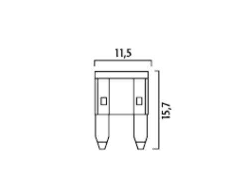 10 Flosser 514804 4 Amp Mini Blade Fuses ATM MIN Type