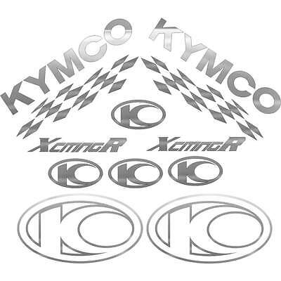 SET COMPLETO ADESIVI ARGENTO KYMCO XCITING 250 500 300 I R