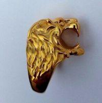 18k Gold Lion Ring Cigarette Holder | eBay