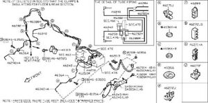 2009 Nissan GTR OEM Front & Rear Brake Lines Complete Set