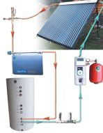 Image 1 - Solar Water Heater 120 Gal System / Heat Dissipater Solar Collector Solar Pump