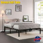 Twin Full Size Metal Bed Frame Platform Bedroom Mattress Foundation Headboard Us For Sale Online Ebay