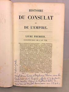 Histoire Du Consulat Et De L'empire : histoire, consulat, l'empire, Histoire, Consulat, Empire, Volumes, 1845-1874, Adolphe, Thiers