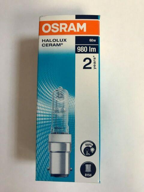 osram lampe halogene halolux ceram 64492 60w b15d transparent