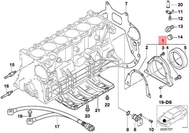 Genuine BMW E36 E38 E39 E46 E53 Z3 Engine Crankshaft Seal