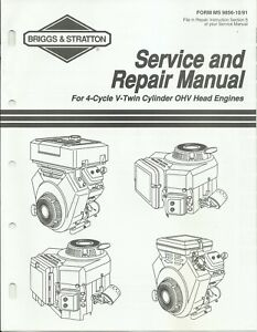 Briggs & Stratton 1991 4-Cycle V-Twin OHV Engines Service