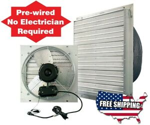 details about attic fans wall exhaust fan 24 in garage shed pole barn greenhouse cooling hvac