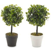 Artificial Office Desk 33cm Bonsai Tree Black Plant Pot ...