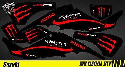 kit deco quad pour atv decal kit for suzuki ltz 400 red monster ebay