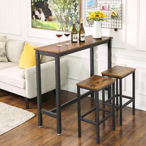 details sur vasagle table haute fine table de bar table de cuisine vintage lbt12x
