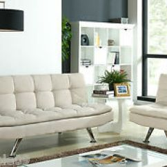 3 Seater Fabric Sofa Table Metal Bed Set Sofabed And Or Single Chair Lounge Image Is Loading
