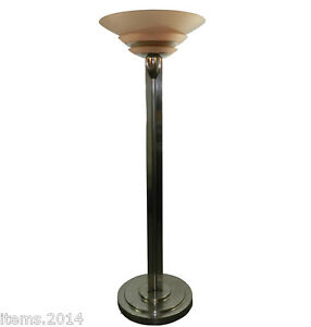 details sur jean perzel rare lampadaire epoque art deco modele 32 en bronze nickele