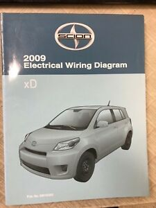 2009 Toyota SCION xD XD Electrical WIRING Diagram Manual