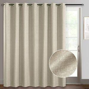 details about rhf 100 x 84 blackout curtains primitive linen look patio door burlap curtain