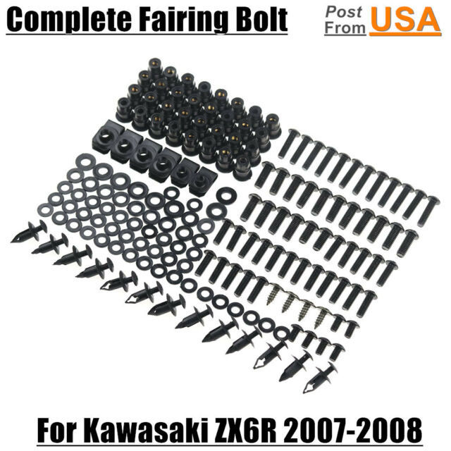 Complete Fairing Bolts Body Screws Kit for Kawasaki Ninja