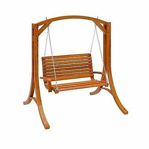 swing chair over canyon shower chairs at walmart corliving wood cinnamon brown stained patio ebay stock photo