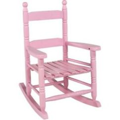 Small Rocking Chairs Electric Chair Execution Procedure Childs Wooden Kids Toddler Girls Pink Rocker Image Is Loading