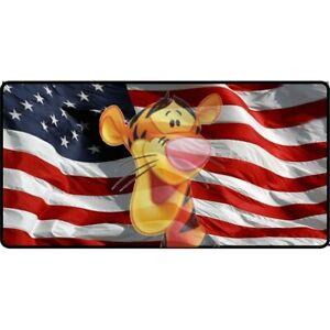 tigger face winnie the pooh disney transparent on flag license plate usa made | eBay