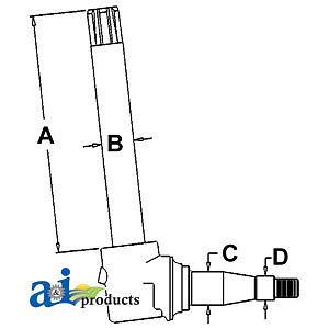 John Deere Parts HD SPINDLE 4020/4430 AR44333SP 4320 (HVY