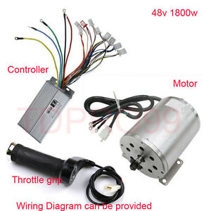 electric scooter motor controller wiring diagram s13 240sx fuel pump e bike brushless throttle grip go kart image is loading