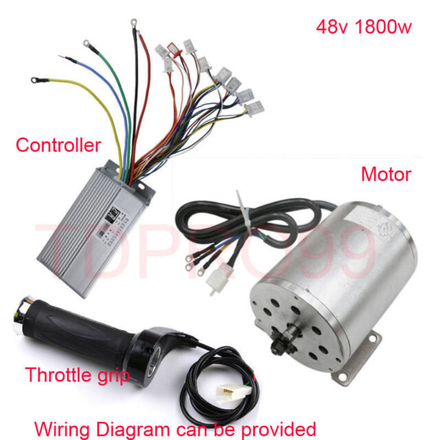 1800w 48v brushless electric motor speed controller throttle grip - baja 90  go cart wiring diagram