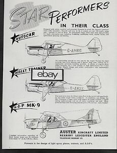 AUSTER AIRCRAFT LTD U.K. 1955 STAR PERFORMERS IN THEIR
