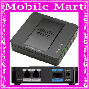 CISCO SPA112 Adapter 2 Port Analogue Phone Fax Adaptor (ATA) VOIP FAX SPA -112 | eBay