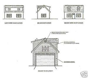 16x24 1 Car Garage / Garden Potting Shed Building