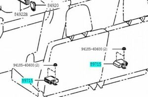 TOYOTA 89715-60031 Fold Seat Control Computer Genuine LAND