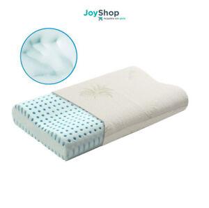 cuscino guanciale memory foam Blu Orthocervicale doppia onda cervicale Aloe vera  eBay