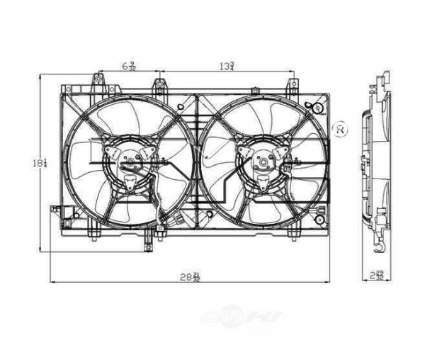 Dual Radiator and Condenser Fan Assembly-Natural TYC fits