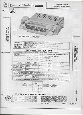 1961 PHOTOFACT Ford Falcon Bendix AM Radio Receiver Models