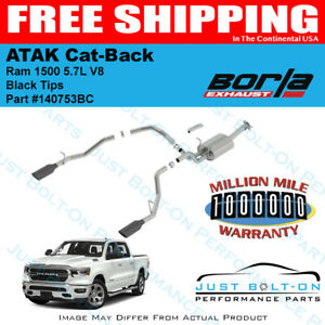 borla atak cat back black tips 2019