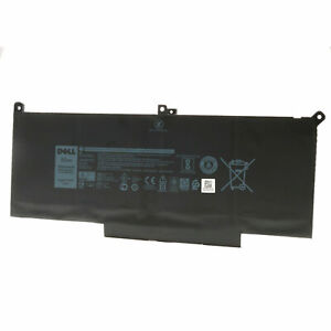 Genuine 7.6V 60Wh F3YGT Battery for Dell Latitude 12 7000 7280 7480 2X39G DM6WC | eBay