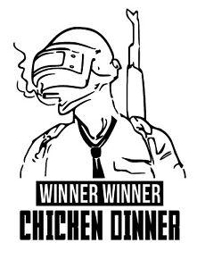 Winner Winner Chicken Dinner PUBG Sticker/ Logo Gaming