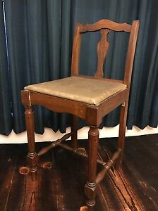 antique sewing chair covers at target vanity stool wood vintage ebay image is loading