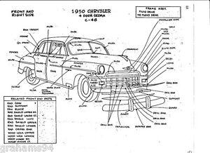 1950 Chrysler C-48 NOS Body Panel Exterior Part Number