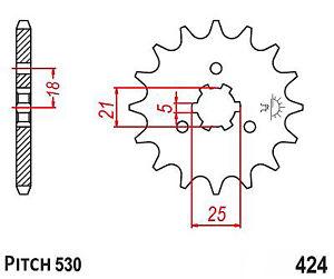 Hendler Front Sprocket 15 Teeth (424-15) Kawasaki Z 250 A