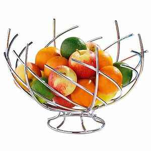 kitchen fruit basket moen banbury faucet twist storage bowl holder tidy chrome image is loading