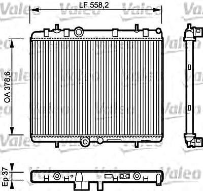 VALEO Engine Cooling Radiator Fits CITROEN C5 Xsara Wagon