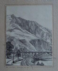 Mountain Pencil Drawing : mountain, pencil, drawing, Original, Furst, Landscape, Pencil, Drawing, MOUNTAIN,, GLENWOOD, SPRINGS