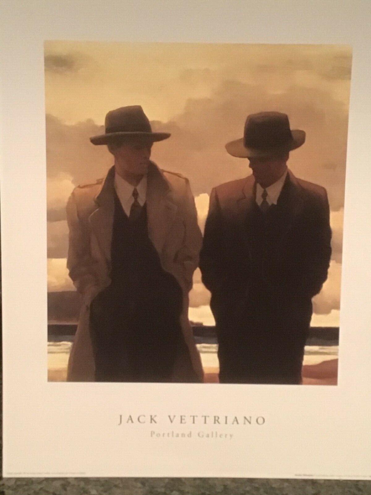 "JACK VETTRIANO  ""AMATEUR PHILOSOPHERS"" print"
