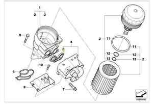 Genuine BMW Oil Filter Housing Seal 1,3,5 Series PN